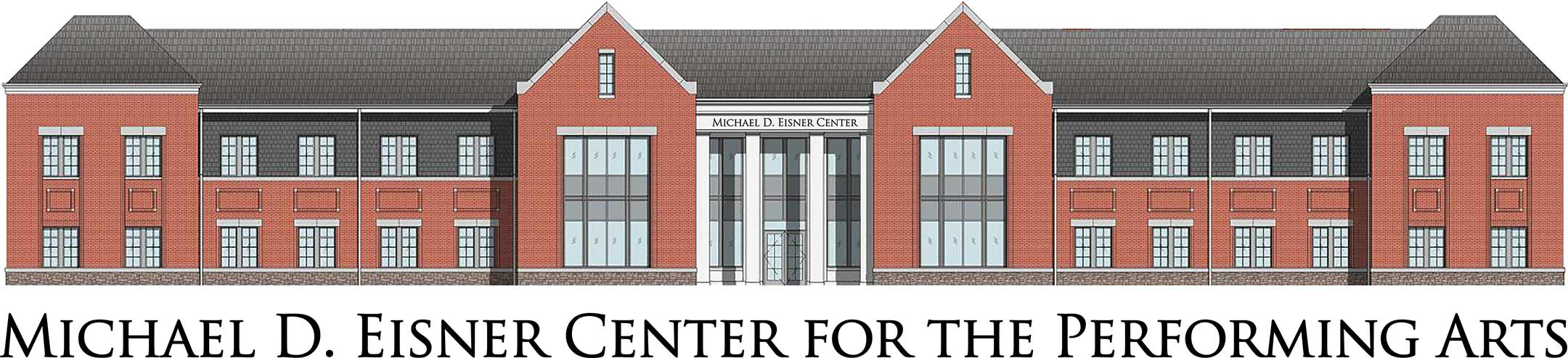 A rendering of the Eisner Center