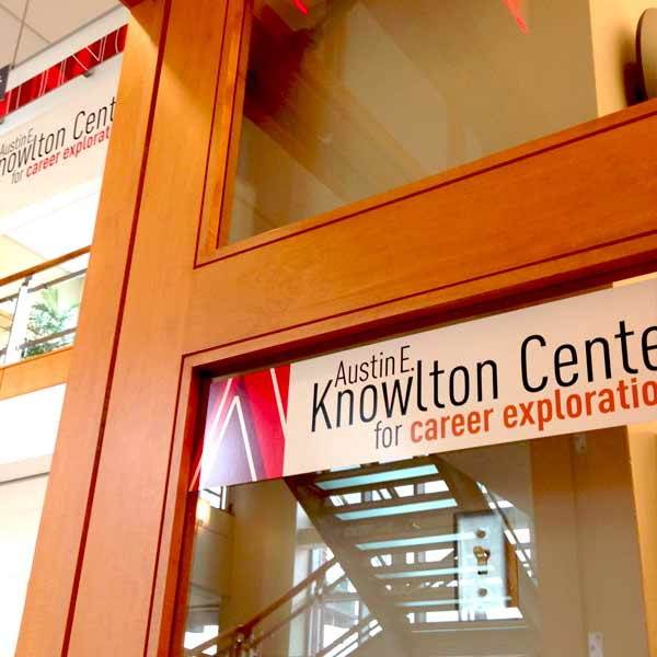 The door to the Knowlton Center